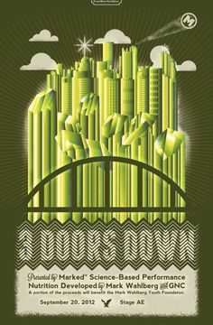 This is a recent poster I designed for PromoWest North Shore and GNC for the 3 Doors Down concert and presentation of Mark Wahlbergs new li #down #gig #design #doors #3 #poster #merritt #andrew