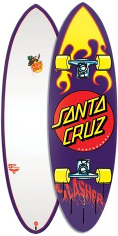 Santa Cruz: Surfboards: 5' 10 #santa #cruz #vintage #skateboard #surfboard