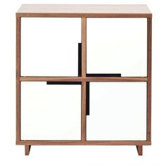 Modu-licious #3 Modern Console Cabinet - Walnut on White