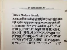 Daily Type Specimen | Times Modern Swash. If Stanley Morison and T. L.... #typography