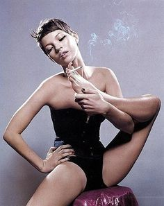 M O O D #girl #model #kate moss #smoking