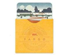 Fargo Luggage Tag #train #illustration #badge