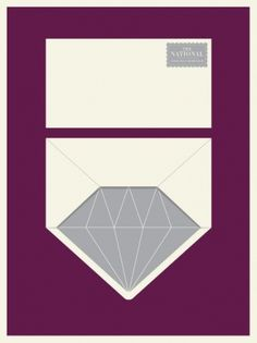The National Poster | The Small Stakes | A DESIGN MAFIA #munn #small #jason #diamond #the #illustration #envelope #stakes #poster #music #national