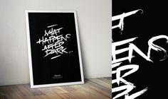 tomsears.me   hand painted nightclub poster mockup #lettering #mockup #painted #tomsears #black #poster #hand