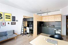 Multfunctional Space Brandburg / Design Studio and Apartment in 37sqm