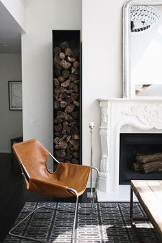 house, fireplace, interior, design