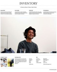 Inventory Magazine on the Behance Network