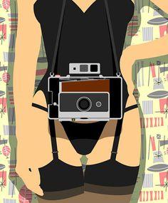 Peter Stanick #camera #illustration #girl