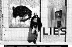 LIES | Volt Café | by Volt Magazine #white #design #graphic #volt #black #photography #art #and #fashion #layout #magazine #typography