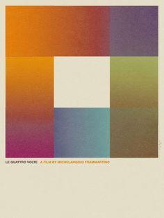 Le Quattro Volte web #retro #colours #poster