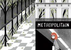Paris France by Eleni Kalorkoti for Global Yodel #paris #kalorkoti #france #eleni #fall #travel #culture #illustration #walk