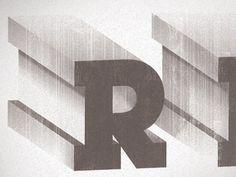 Dribbble - Poster to be by kellianderson #lubalin #bezel #texture