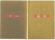 2+2=5 « 1984 Looks Like This #galimard #design #1956 #book #librairie #cover #1984 #orwell