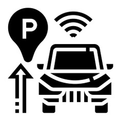 See more icon inspiration related to park, sensor, car, parking sensor, sensors, intelligence, electronics, auto, radar, parking, wifi and security on Flaticon.