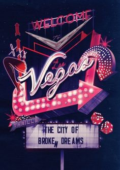 Welcome To Las Vegas – Ilovedust – Illustrators & Artists Agents – Début Art #vegas #poster