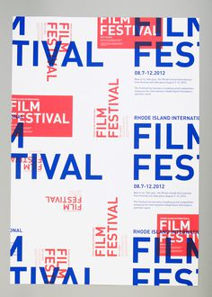 rhode island international film festival on RISD Portfolios #poster #typography
