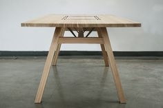 Larch Table by Tobias Tøstesen