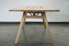 Larch Table by Tobias Tøstesen