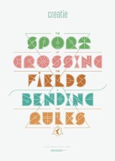 Poster creatie crossing and bending