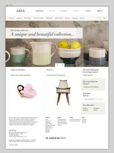 Aria #website #layout #store #web