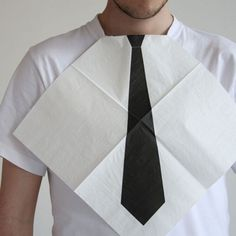 Necktie Napkins | CMYBacon #tie #napkin