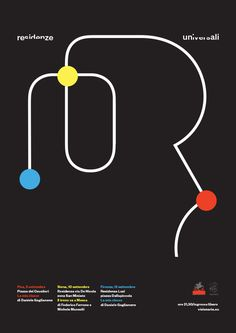 Residenze Universali #canefantasma #manes #black #minimal #poster #cmyk
