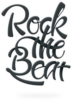 Rock The Beat - Patrice Barnabé #lettering #rock #the #patrice #beat #barnabe
