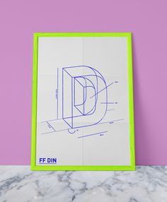 FF DIN Poster by Celeste Watson #design #graphic #typeface #poster #type #din #typography