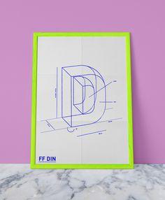 FF DIN Poster by Celeste Watson