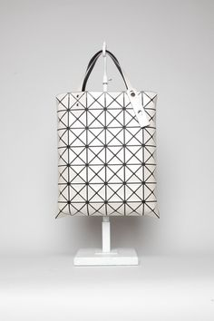 Totokaelo Bao Bao by Issey Miyake Lucent Tote Cream #lines #bag #tote #geometry