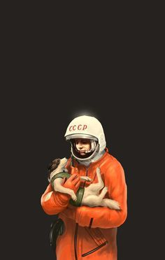 Dmitry Maximov Illustrations #astronaut #fi #sci #space #illustration #puppy #painting #dog