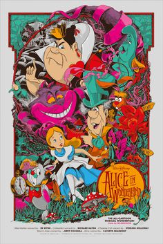 Reinvented Disney posters by Mondo-Alice in Wonderland