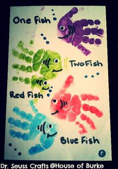 What better way to memorialize your child's growth than by making this fish craft with your kid's hand print. #diy #fish #sea