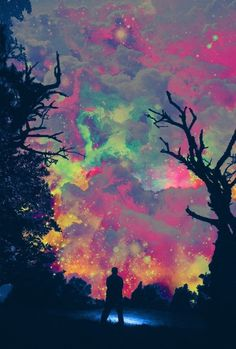 alkd;fjakds #lsd #sky #colorful #nature