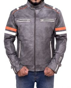 Motorcycle Cafe Racer Leather Jacket | Top Celebs Jackets