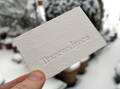 Trancendence - Letter Press Cards #letterpress #cards #business