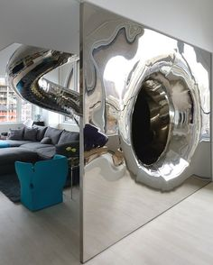 Mirror tube exit #interior #artistic #penthouse #apartment #fun