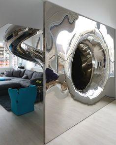 Mirror tube exit #interior #artistic #penthouse #apartment #fun