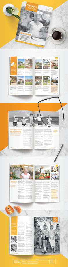 Design by Shanti Sparrow Client: Allity Project Name: Friends & Family Magazine www.shantisparrow.com #Design #graphicdesign #layout #magaz