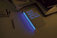 Good Ideas Glow in The Dark | iGNANT #design #paper #book #glow