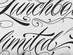 Typography Project on Zootool #hand #written #typography