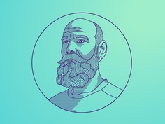 Portrait Illustration #line-art#portrait#man#illustration#beard#editorial#design