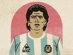 Farewell Maradona portrait argentina soccer maradona characterdesign simple drawing graphic character vector texture #illustration