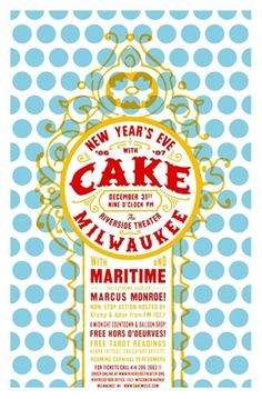 All sizes | CAKE New Year's Eve poster by Aesthetic Apparatus | Flickr - Photo Sharing! #design #graphic #poster