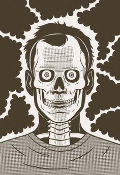 designer spotlight: Kristian Hammerstad self taught animator trained illustrator | jared erickson #illustration #lightning #poster #skull