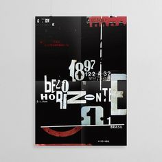 Belo Horizonte #showusyourtype #red #print #black #belohorizonte #poster #type #typography