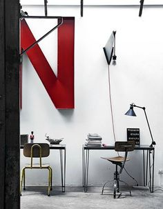 FFFFOUND! | convoy #interior design #vintage #decoration #lamp #chair #letter #industry