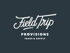 Field Trip Logo Design #logo #branding #logodesign #minimal #vintage #kronebergerdesign #identity #graphicdesign