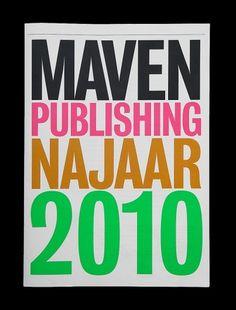 MAVEN Publishing Matthijs van Leeuwen @ G2K #van #leeuwen #large #helvetica #matthijs #typography