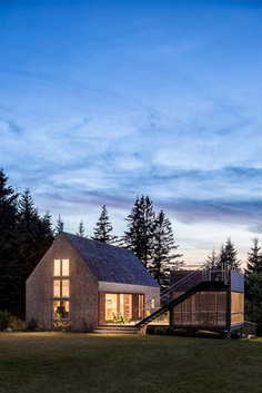 This Cranberry Isles House is a Modern Interpretation of the Traditional New England Farm 11